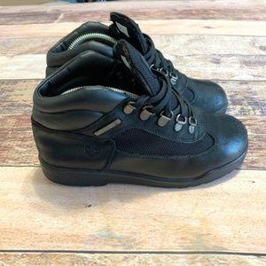 Timberland Boy's Black Field Boots